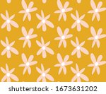 mustard and pastel pink 1970's... | Shutterstock .eps vector #1673631202