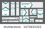 set of creative web banners of... | Shutterstock .eps vector #1673631322