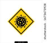 corona virus or bacteria icon... | Shutterstock .eps vector #1673673928