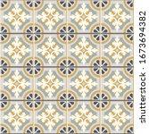 floor tiles   seamless vintage... | Shutterstock .eps vector #1673694382