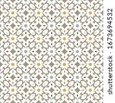 floor tiles   seamless vintage... | Shutterstock .eps vector #1673694532