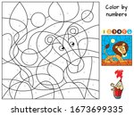 Lion. Color By Numbers....