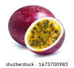 Passion Fruit Isolated On White ...