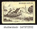 france   circa 1949  stamp... | Shutterstock . vector #167372552