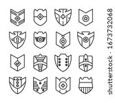 shield  badge and insignia... | Shutterstock .eps vector #1673732068