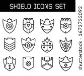 shield  badge and insignia... | Shutterstock .eps vector #1673732092