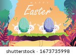 Happy Easter Day Vector...