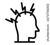 fear stress icon. outline fear... | Shutterstock .eps vector #1673756002