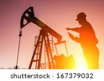 oil drill  field pump jack... | Shutterstock . vector #167379032