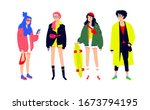 illustration of a young... | Shutterstock .eps vector #1673794195