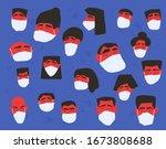 coronavirus protection concept. ... | Shutterstock .eps vector #1673808688