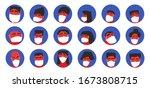 men and women in white medical... | Shutterstock .eps vector #1673808715