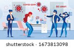man boss chief pitch out sick... | Shutterstock .eps vector #1673813098