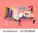 reading and education concept... | Shutterstock .eps vector #1673838868