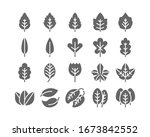 leaf solid glyph icon set... | Shutterstock .eps vector #1673842552