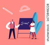 teacher male character explain... | Shutterstock .eps vector #1673848228