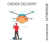 delivery service concept....   Shutterstock .eps vector #1673850028