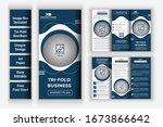 corporate trifold brochure... | Shutterstock .eps vector #1673866642