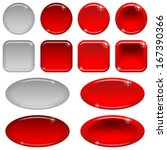 set of glass red buttons ... | Shutterstock .eps vector #167390366