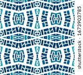 geometric watercolor african... | Shutterstock . vector #1673903785