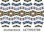 geometric watercolor african... | Shutterstock . vector #1673903788