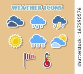 weather icons set  clouds sun...