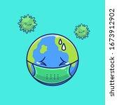 world scare corona virus vector ... | Shutterstock .eps vector #1673912902