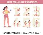 anti cellulite exercises...   Shutterstock .eps vector #1673916562