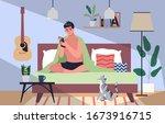 smartphone addiction concept...   Shutterstock .eps vector #1673916715