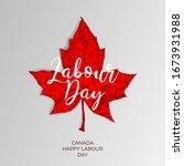 happy canada labour day vector... | Shutterstock .eps vector #1673931988