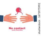bacteria on hand. coronavirus...   Shutterstock .eps vector #1673975992