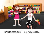 a vector illustration of cute... | Shutterstock .eps vector #167398382