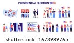 2020 presidential election in... | Shutterstock .eps vector #1673989765
