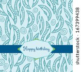 template for happy birthday... | Shutterstock .eps vector #167399438