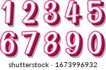 font design for number one to... | Shutterstock .eps vector #1673996932