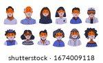 coronavirus avatars. novel...   Shutterstock .eps vector #1674009118