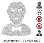 hatch mosaic based on vampire...   Shutterstock .eps vector #1674065818