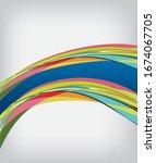 flyer or brochure template ...   Shutterstock . vector #1674067705