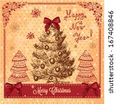 vector christmas decoration... | Shutterstock .eps vector #167408846