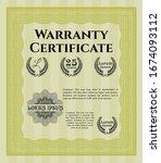 yellow warranty template....   Shutterstock .eps vector #1674093112