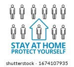 stop coronavirus. self... | Shutterstock .eps vector #1674107935