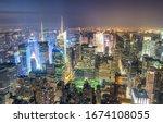 New York City  Usa. Night...