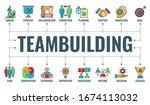 teamwork teambuilding or...   Shutterstock .eps vector #1674113032
