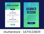 newsletter  email design... | Shutterstock .eps vector #1674123835
