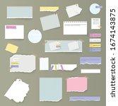 set of torn horizontal white... | Shutterstock .eps vector #1674143875