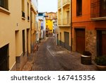 Narrow Street Of Old Spanish...