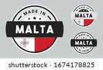 made in malta collection for... | Shutterstock .eps vector #1674178825