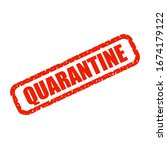 quarantine sign. virus... | Shutterstock .eps vector #1674179122