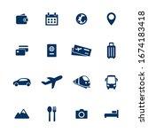 travel vector icon set. tour...