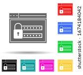security login multi color...